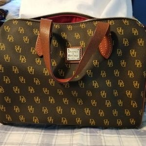 Dooney side pocket satchel